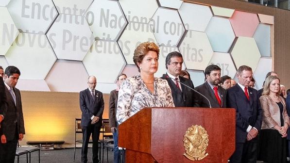 A presidente Dilma Rousseff em encontro com prefeitos eleitos, em Brasília (Roberto Stuckert Filho/PR)