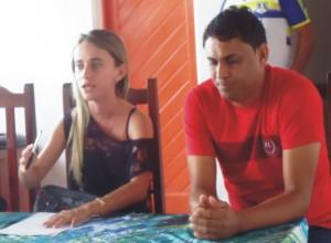 Prefeita Valéria do Manin e vereador Telson Bittencourt.