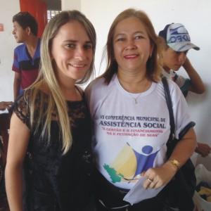 Prrfeita Valéria do Manin e a professora Ceiça - gestora do Gonçalves Dias.