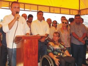 Secretário Luis Fernando disse que vai lutar pela estrada de Carnaubeira e que sua próxima vinda em Araioses será para assinar a ordem de serviço para execução da obra.