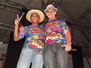 Xavier e Ricahdes, os animadores da festa.