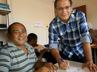O Chefe de Gabinete Antônio Zabé e o novo secretário Bernardo Pedro