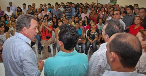 Secretário Luis Fernando, prefeito Erick Costa e demais autoridades anunciam obras do governo na região de Barra do Corda