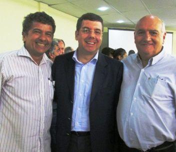 Arlindo Leão, Ricardo Leyser, secretário nacional de Esporte de Alto Rendimento e o vice-prefeito Chagas Fontenele