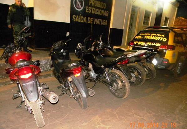 Motos recuperadas pela polícia