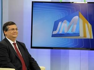 Flávio Dino, em entrevista após vitória (Foto: Biaman Prado/O Estado)
