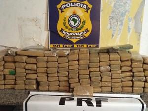 Droga apreendida (Foto: Divulgação / PRF-MA)