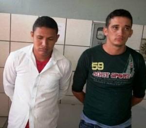 Bruno de Sousa e seu comparsa George dos Santos