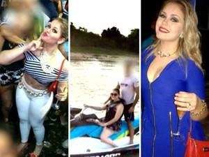 Prefeita de Bom Jardim (MA) ostentava boa vida nas internet (Foto: Fotos: Reprodução / TV Mirante)