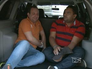 Ex-secretários municipais presos pela PF. (Foto: Reprodução / TV Mirante)