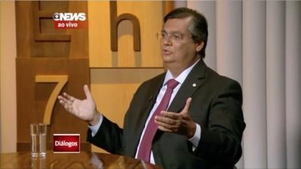 Flávio Dino em entrevista à Globo News
