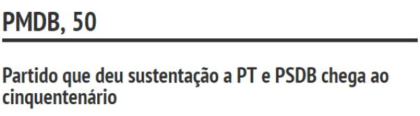 PMDB, 50