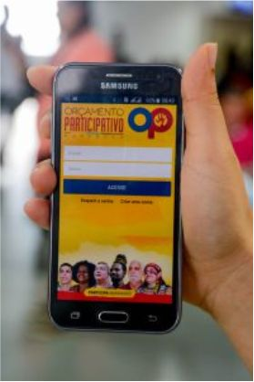 Aplicativo 'Orçamento Participativo MA' está disponível para download. Foto: Karlos Geromy/Secap